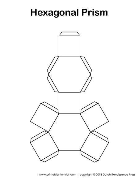 How To Make A Hexagonal Prism Out Of Paper - tessellating space math lessons