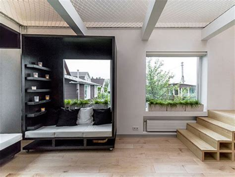 Modular Rooms by Rolling Modular Room Design Transforms Interior Spaces
