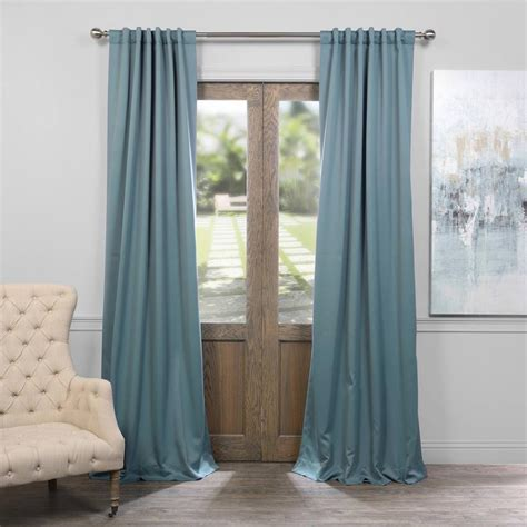 Teal Blackout Curtains Exclusive Fabrics Furnishings Dragonfly Teal Blackout Curtain 50 In W X 108 In L Pair