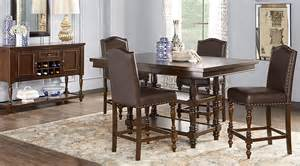 Counter Height Dining Room by Stanton Cherry 5 Pc Counter Height Dining Room With Brown