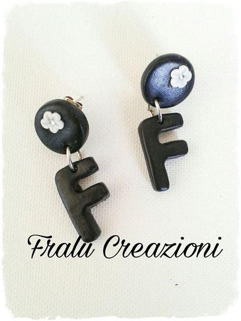 orecchini con lettere orecchini lettera in fimo gioielli orecchini di