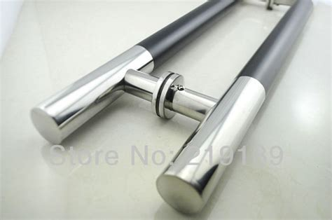storefront door pull handles tubing 1pair storefront stainless steel glass door handle pull tubing 24 inches furniture hardware