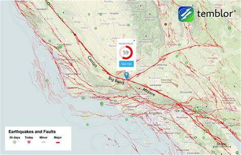 san andreas fault line map map of san andreas fault my