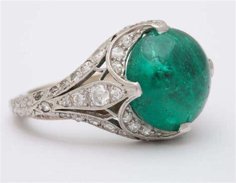 edwardian cabochon emerald ring at 1stdibs