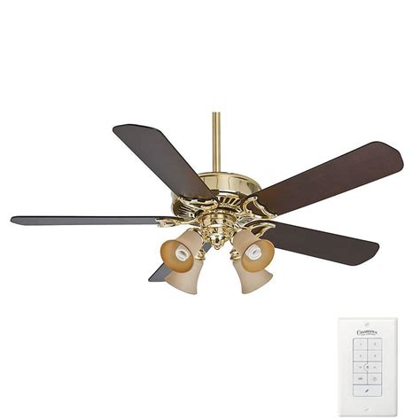 Casablanca Ceiling Fan Light Kits Casablanca Panama Gallery 54 In Indoor Bright Brass Ceiling Fan With Light Kit 55061 The Home