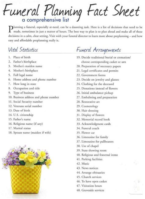 Obituary Phlet Template by Luxury Funeral Planning Template Component Resume Ideas