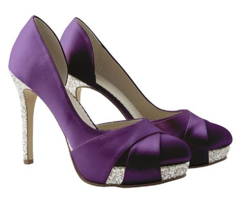 Purple Wedding Shoes by Purple Wedge Wedding Shoes Www Pixshark Images