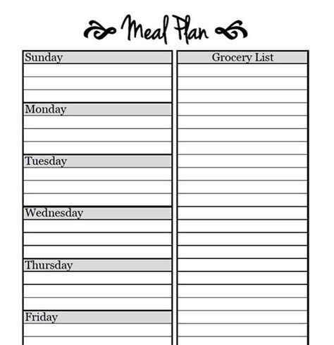 r up plan template 25 best ideas about meal plan templates on
