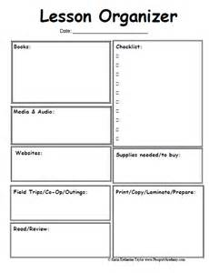 Lesson Planning Sheet Template by Homeschool Lesson Planner Pages