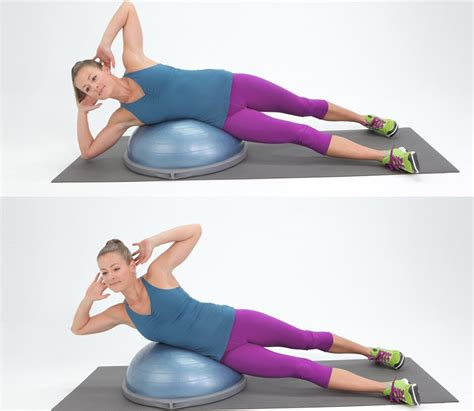 7 Great Bosu Exercises by Oblique Exercises To Tone Stomach Popsugar Fitness Australia