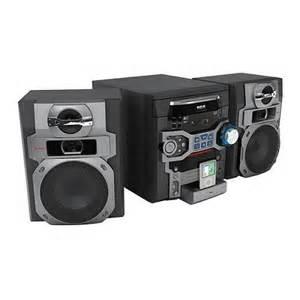rca rs2767i am fm 5 disc cd 300w stereo shelf system w