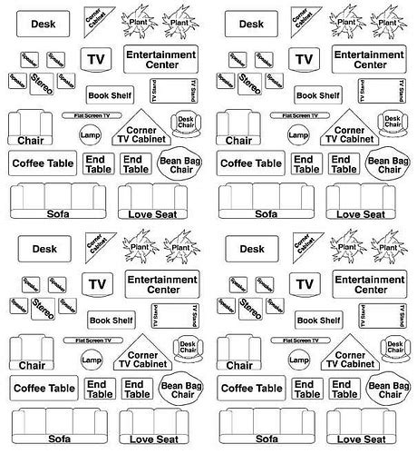 Printable Room Plan Furniture Templates Furniture Placement Templates Free
