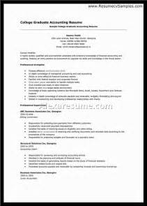 Accounting Student Resume Exles by Accounting Student Resume Berathen