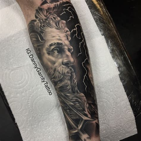 greek god tattoo poseidon god theme s sleeve design will