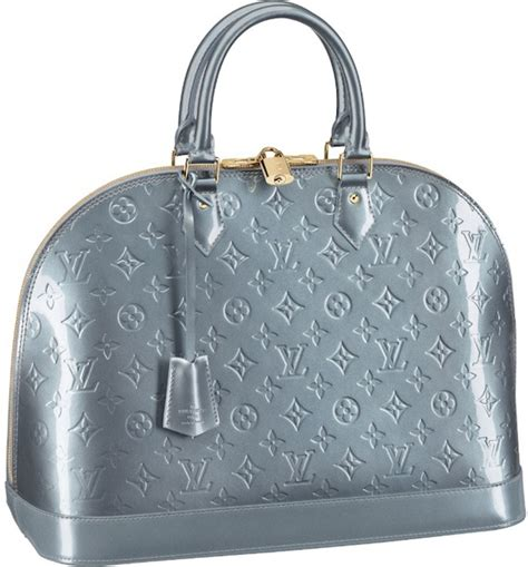louis vuitton alma vernis bag reference guide spotted