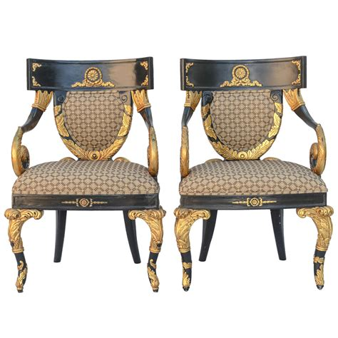 pair of versace home collection armchairs at 1stdibs