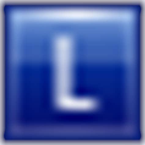 Icon L by Letter L Blue Icon Multipurpose Alphabet Iconset