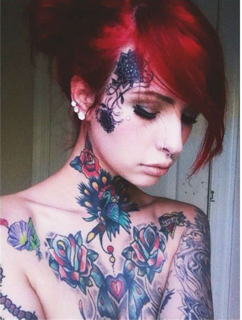 girl gets face tattoo in bali 17 best images about tattoed girls face neck hands on