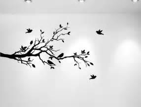 tree branches and love birds vinyl sticker 56 quot x28