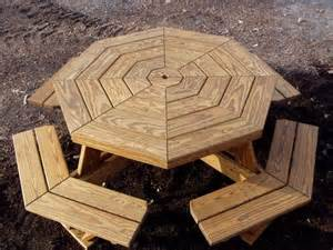 Octagon Patio Table Plans Octagon Picnic Table Picnic Tables And Picnic Table Plans On