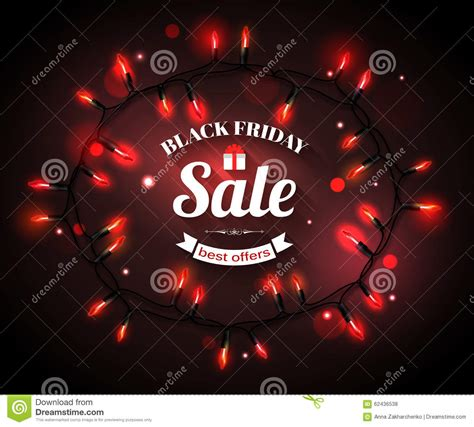 black friday sale shining typographical background stock