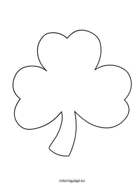 shamrock templates printable shamrock coloring page printable