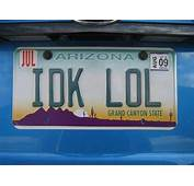 Funny License Plates Part 5  Vehicles