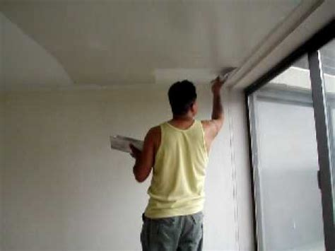 Skim Coat Popcorn Ceiling by Skim Coat Ceiling On Stilt Plaster Compound Part 1