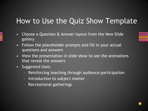 Ppt L L L Powerpoint Presentation Id 3589951 Quiz Show Template