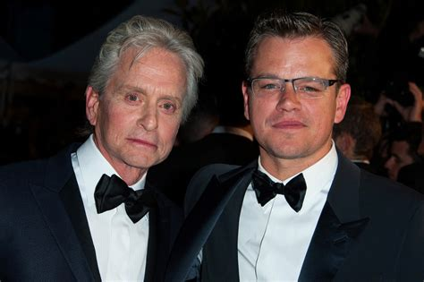 michael douglas matt damon matt damon and michael douglas photos photos the