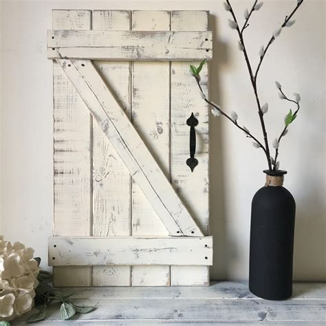 mini barn door wall hanging wood shutters barn door decor