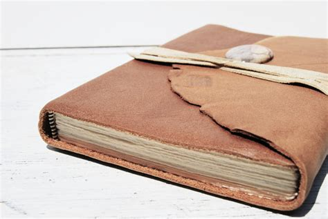 Handmade Leather Journal Tutorial - handmade leather journals by michael graham cotton ridge
