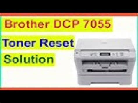 brother dcp 195c resetter free download toner reset brother dcp 7055 printer solution youtube