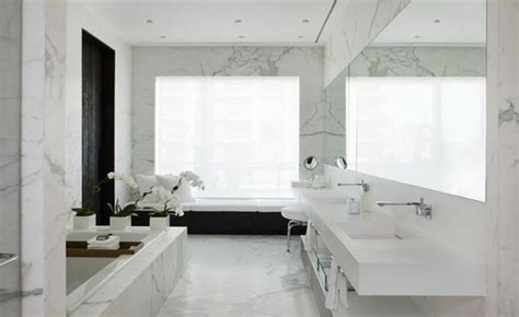 White Marble Tiles Bathroom » Home Design