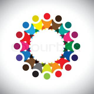 what color represents unity concept vector graphic abstract colorful employee unity