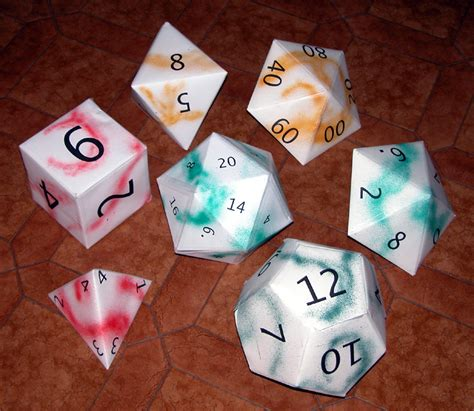 Origami Dice - origami dice set by enricap on deviantart