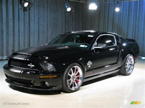 mustang gt500 black 2007 black ford mustang shelby gt500 snake coupe