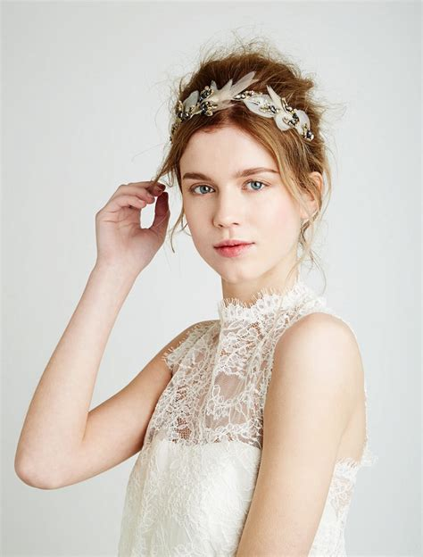 Wedding Hair Accessories Feather bridal style feather and coal beautiful and unique