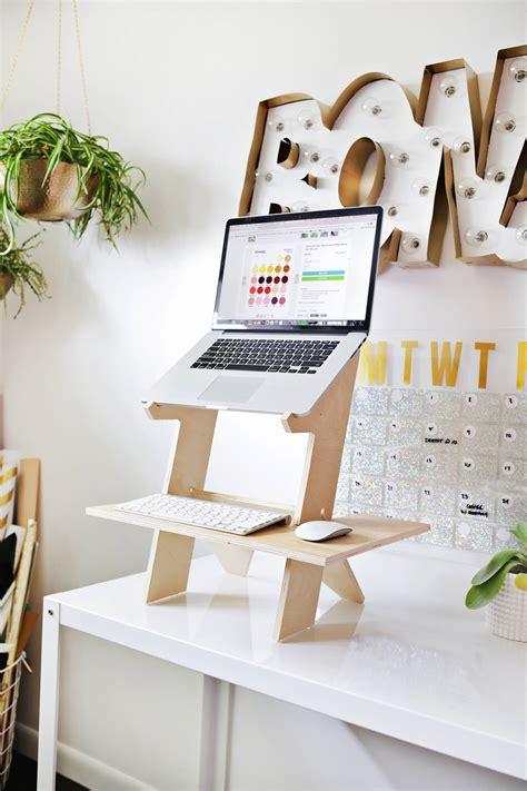 make your desk a standing desk tabletop standing desk diy