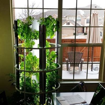 tower garden grow food with a vertical aeroponic system