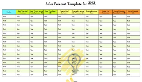 projected sales forecast template sales forecast template free for your predicions