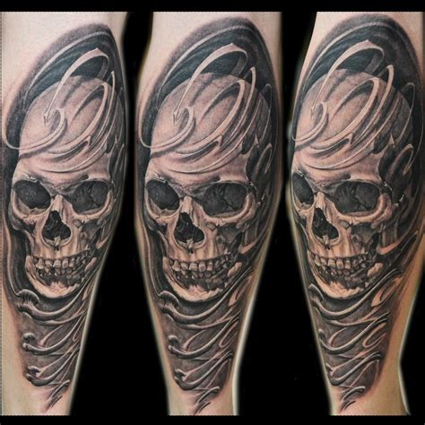 skull and bones tattoo skull and bones by jose perez jr tattoonow