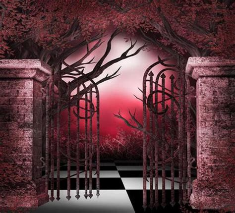 wallpaper gothic pink gothic gateway 3d and cg abstract background