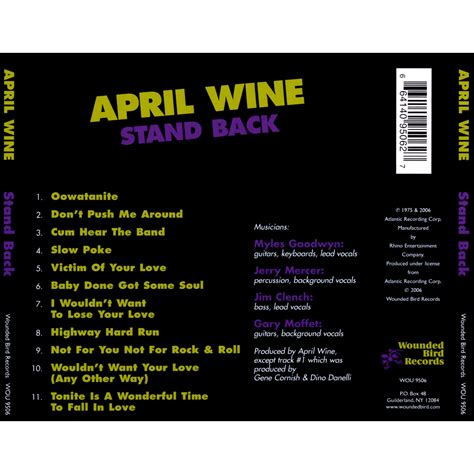 belouis some stand live version stand back april wine mp3 buy tracklist