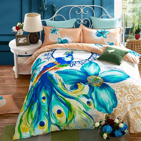 peacock bed set compare prices on peacock comforter set online shopping