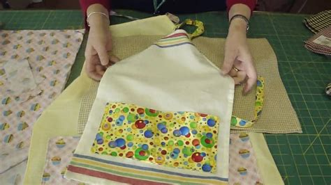apron pattern from dish towel make an apron using tea towels part 2 of 2 youtube