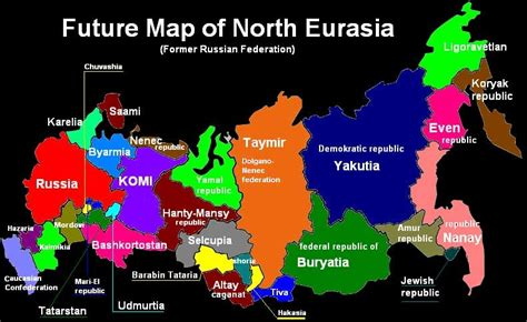 russia map of europe 2035 more on divided russia maps and xenophobic nationalist