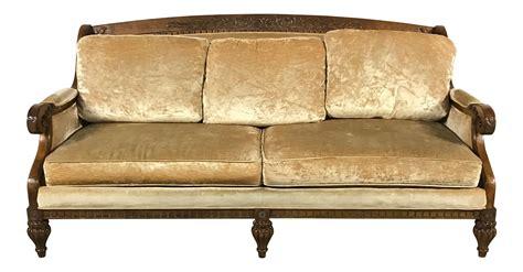 gold velvet sofa vintage gold velvet sofa chairish