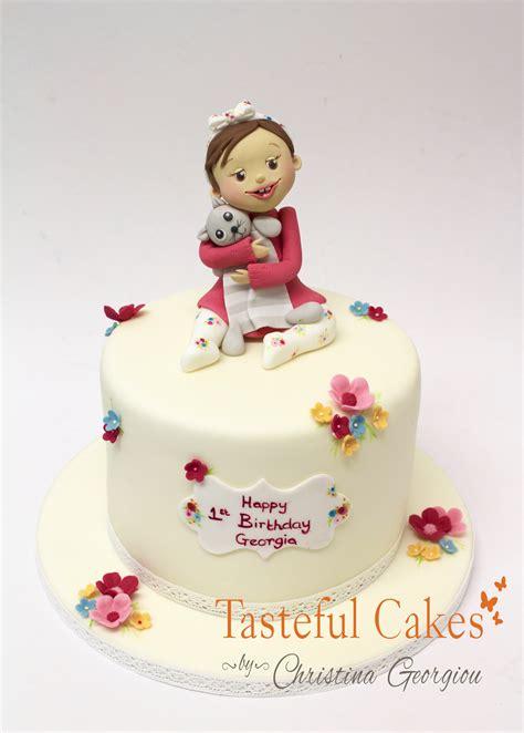 1st Birthday Cake by Cakes By Georgiou 1st Birthday