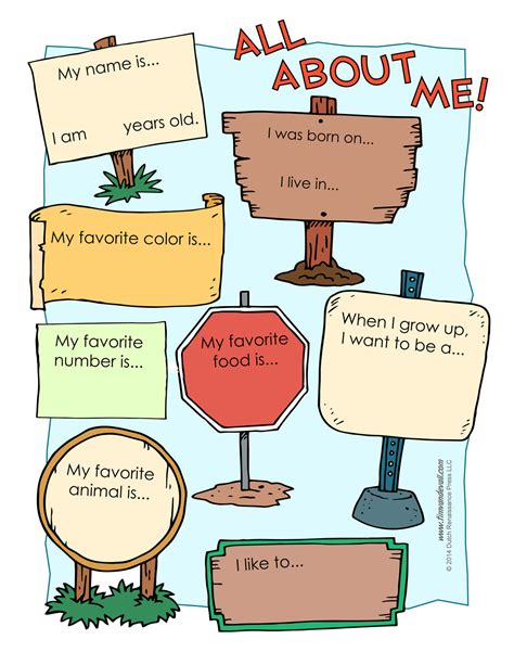 printable worksheets all about me all about me worksheet printable